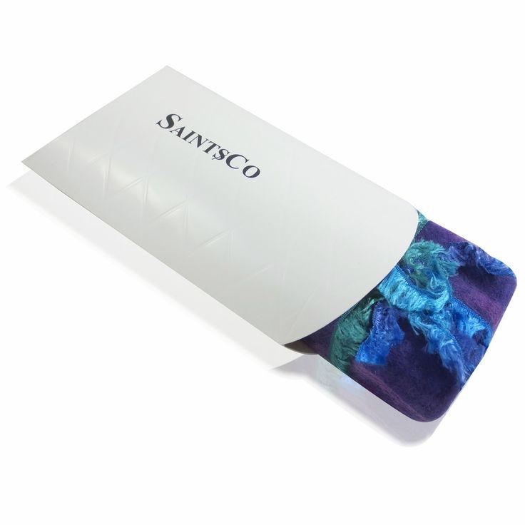 Saintsco Lavender Merino Wool Felted Soap