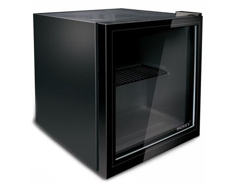 Husky 12 Bottle Wine & Drinks Refrigerator with Black Door