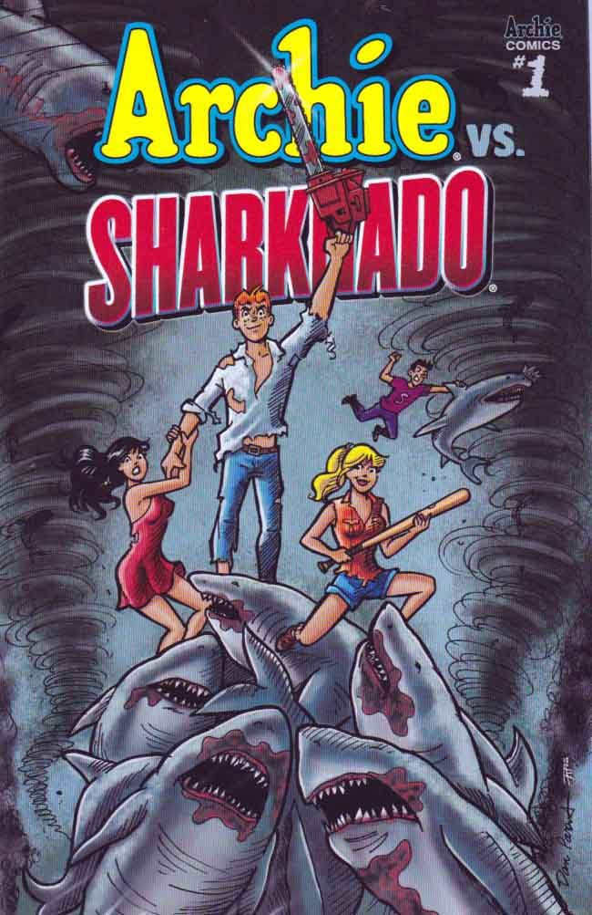 Archie vs Sharknado #1 Regular Dan Parent Cover 2015 Dan Parent Script & Pencils. It's that time of year in Riverdale! The end of the school year. Time for beaches, barbecues, fun in the sun and... SHARKNADOS!?! That's right, get ready as Archie and the gang brave the storm of a tornado full a sharks