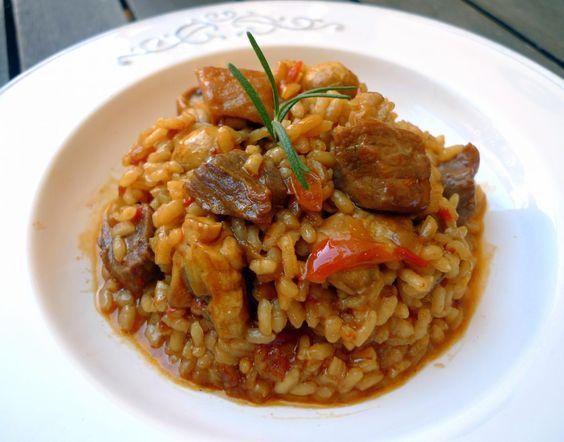 Arroz con pollo de corral y secreto de cerdo ibérico 1