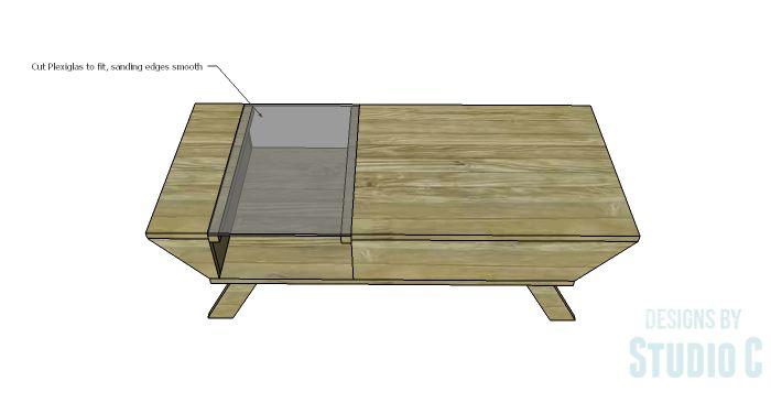 DIY Plans to Build a Brady Coffee Table-Plexiglas Top