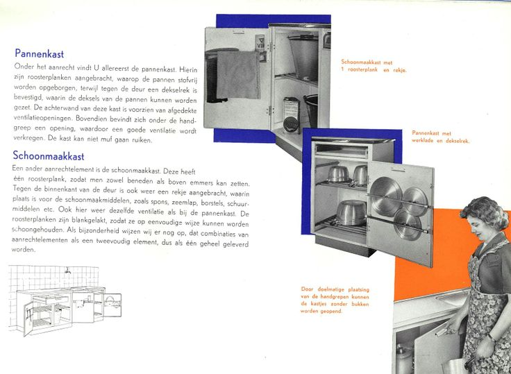 Bruynzeel Keukenkast : Piet Zwart ontwerpt veel accessoires die het ...