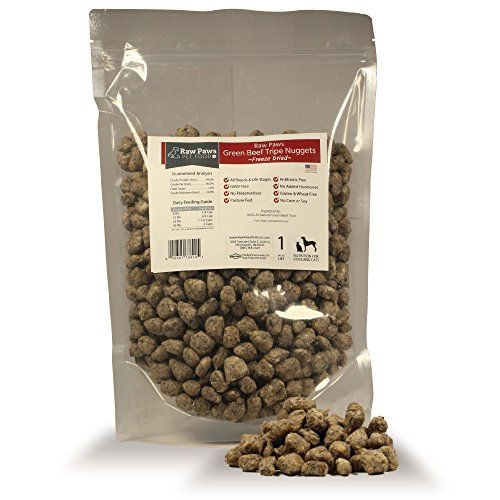 Raw Paws Pet Premium Freeze Dried Green Tripe for Dogs, 1-pound - 100% Grass Fed…