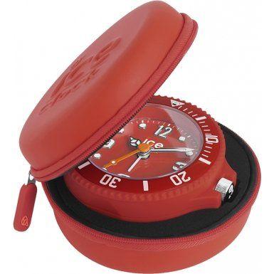 Ice-Clock 90 mm Travel Alarm Clock, Red