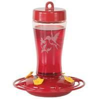 Pet Supply Company LLC - Glass Hummingbird Feeder, Color: Red, Size: 12 OUNCE CAP, UPC