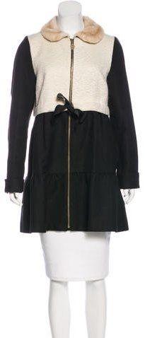 Manoush Faux-Fur-Trimmed Knee-Length Coat