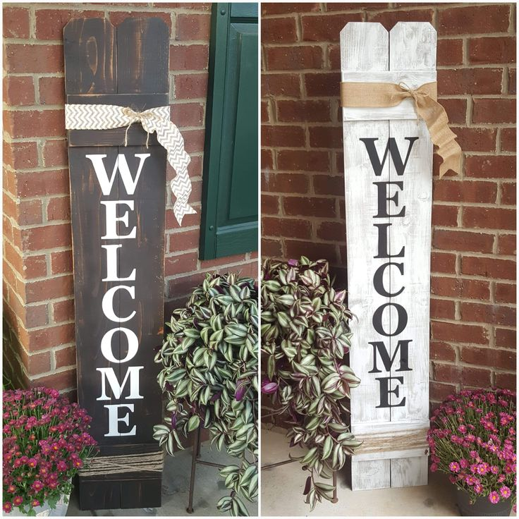 Welcome Sign, Welcome Sign For Front Door, Front Porch