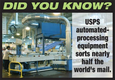 USPS sorts nearly half of the world's mail