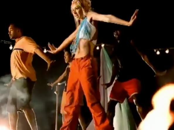 """We took style inspiration from Christina Aguilera's 1999 """"Genie in a Bottle"""" music video and shopped out her look."""