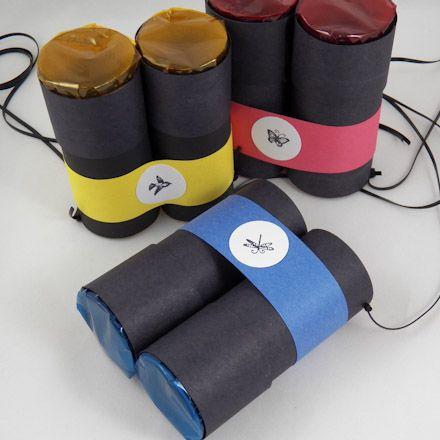 Verrekijker maken van wc rol. DIY Toilet Paper Roll Multicolor Binoculars