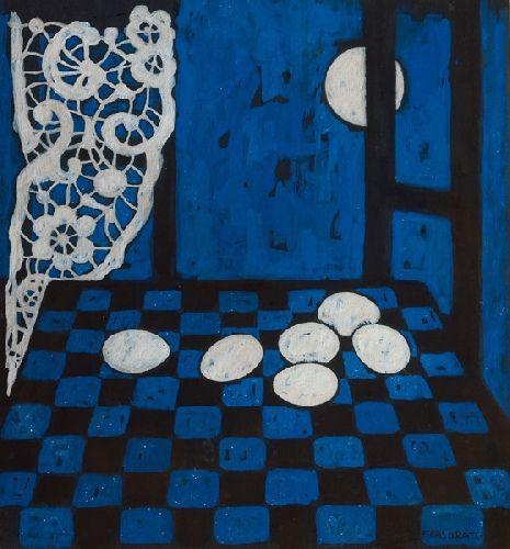 Casorati, Felice (1883-1963) - 1959 Night: Eggs (Private Collection)