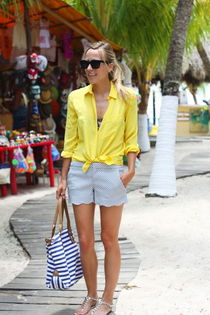 Yellow Blouse #topfashion #anna7891 #YellowBlouse #yellow #Blouse #newclothes www.2dayslook.com