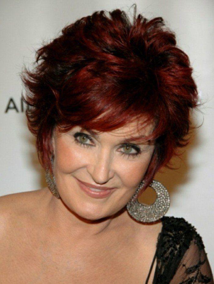 coiffure courte pour vos cheveux rouges, coiffure femme 50 ans