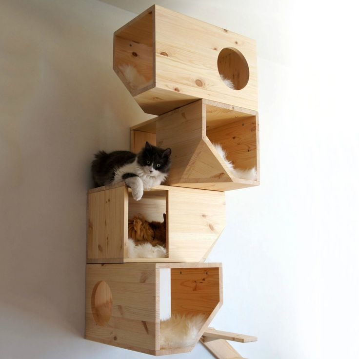 Wooden Modular Cat House #Cat, #House, #Modular, #Wood