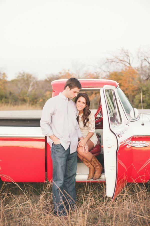 spring engagement inspiration / vintage truck