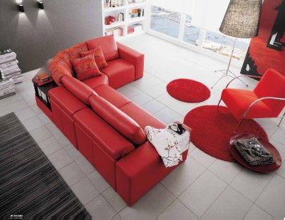 #doimo #salotti #red #color #sofa