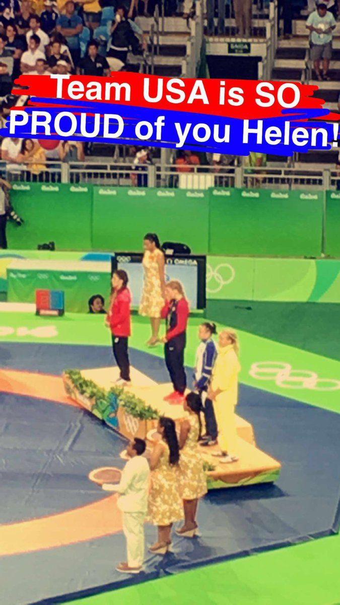 U.S. Olympic Team @TeamUSA  Aug 18 First-time Olympian Helen Maroulis defeated 13x World Champ Saori Yoshida for the GOLD tonight!  👻 USOLYMPIC