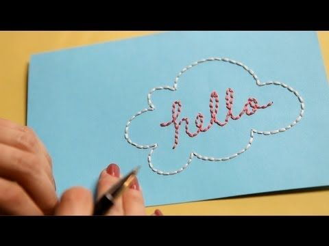 how to embroider on paper - i love this!