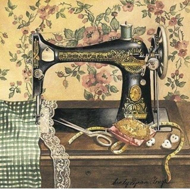 Mama's sewing machine; she uses it to make or mend doll clothes.