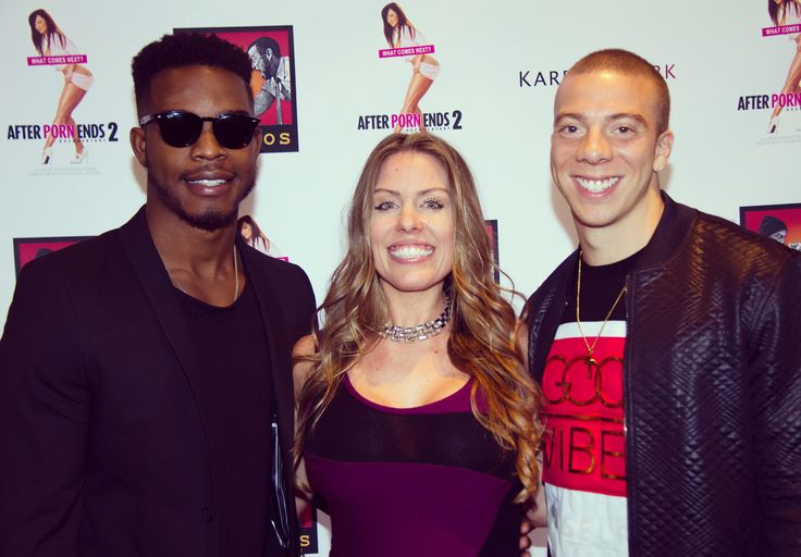 """Actor Stephan James (Selma, Race, Shots Fired) and actor Matt Murray (Rookie Blue, Kevin From Work, Eyewitness) and Producer Cara Kidwell at Premiere of the Documentary """"After Porn Ends:2"""""""