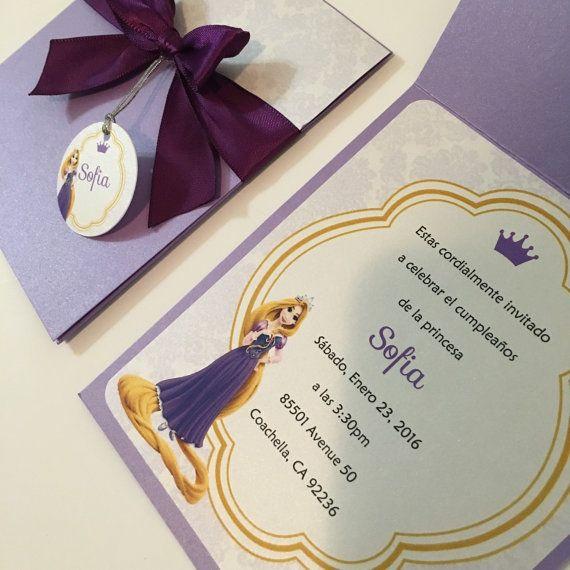 Rapunzel Party Invitations Rapunzel birthday por BirthdayPartyBox