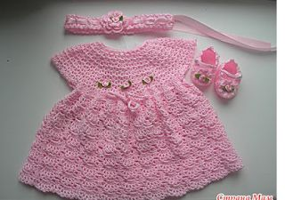 Easy Crochet Baby Afghan Free Patterns : 441 best images about Crochet~Baby Dresses on Pinterest ...