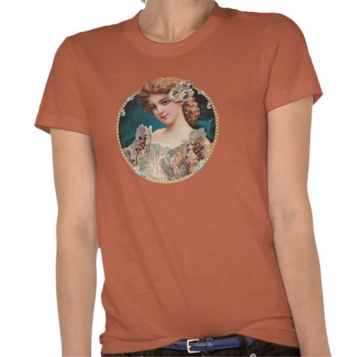 Vintage Floral Woman Shirt #vintage #retro