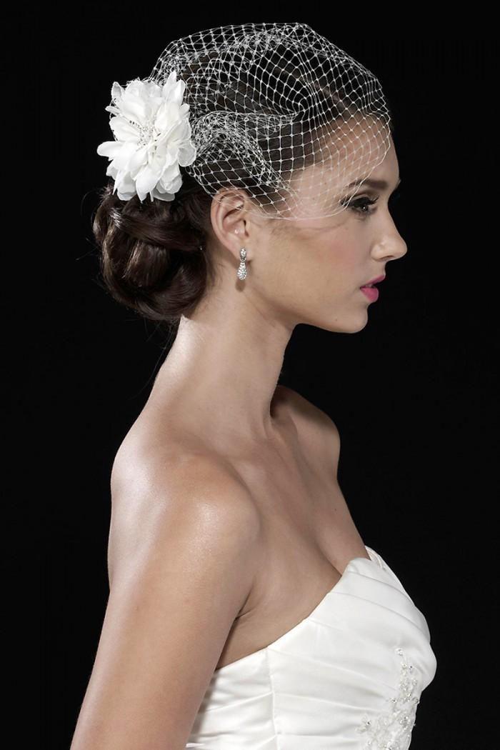 White Tulle juliet cap Bird Cage Wedding Accesories Veil Bridal Birdcage Wedding Veils Short(China