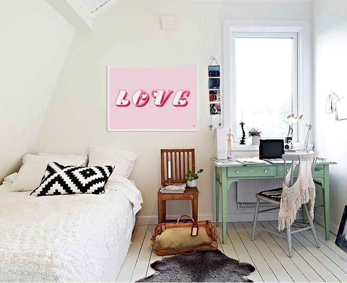 LOVE (pink) - 타이포 인테리어 액자