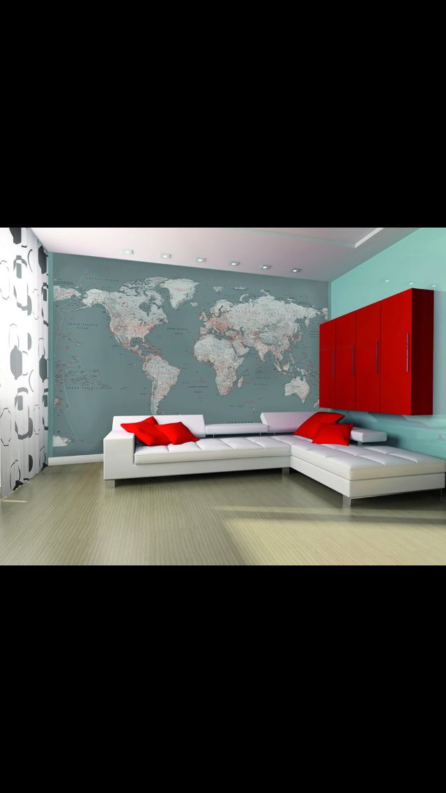 11 best Personalised wallpaper images on Pinterest Personalised - best of world map grey image