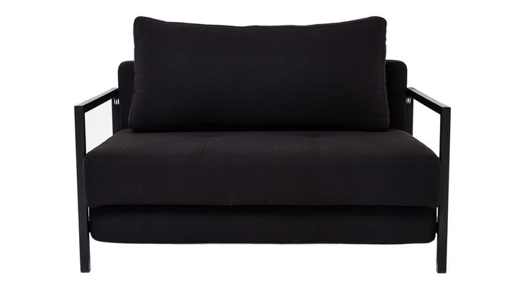 Svart Oxen bäddsoffa. Soffa, sovrum, vardagsrum, compact living, ram, tvåsits. http://sweef.se/soffor/103-oxen-baddsoffa-2-sits.html