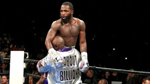 Adrien Broner claims TKO in ninth, calls out Floyd Mayweather...: Adrien Broner claims TKO in ninth, calls out Floyd Mayweather…
