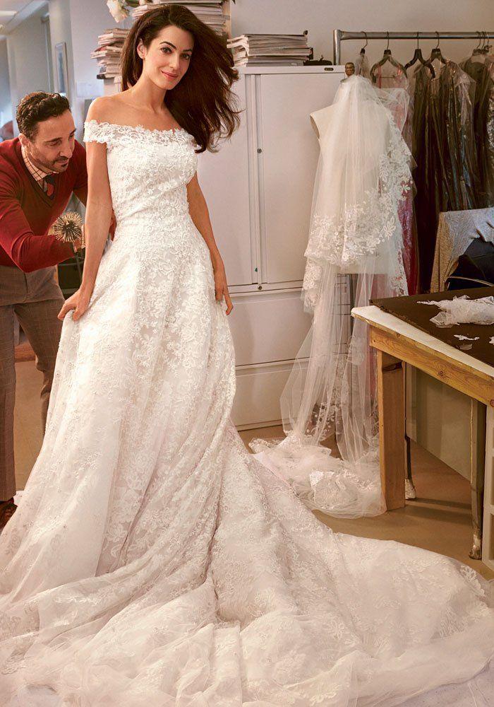 Amal Alamuddin et sa sublime robe de mariée signée oscar de la renta 2014