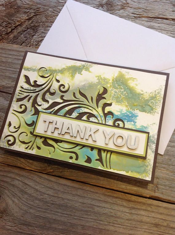 Special thank you card handmade unique thank you fall thank