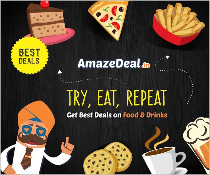 Try,eat,repeat and keep visiting amazedeal.in #StayAmazed #AmazingSavings #Chandigarh #Food