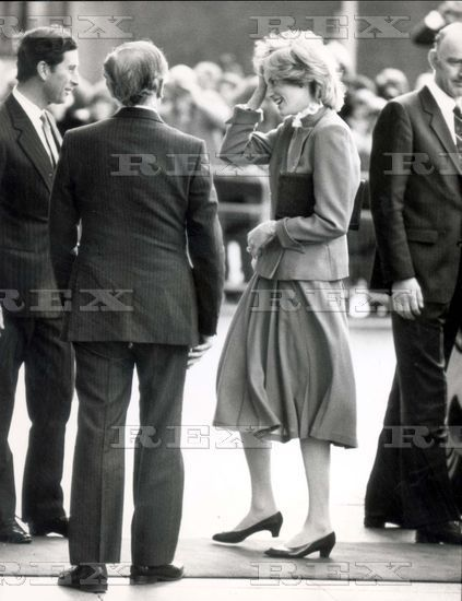 December 2, 1982: Princess Diana visiting the Great Ormond Street Hospital for Sick Children