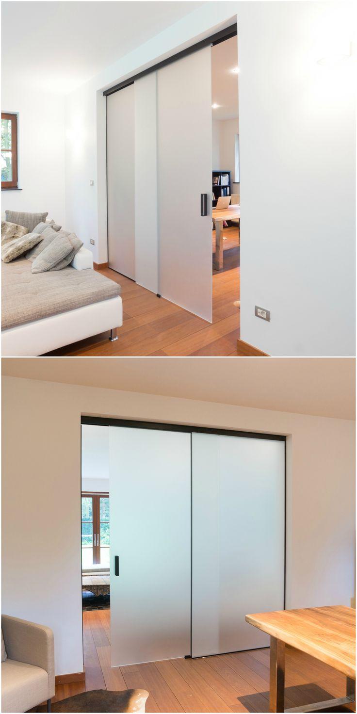 portes vitr es coulissantes int rieures sur mesure entre salon et bureau portes vitr es. Black Bedroom Furniture Sets. Home Design Ideas