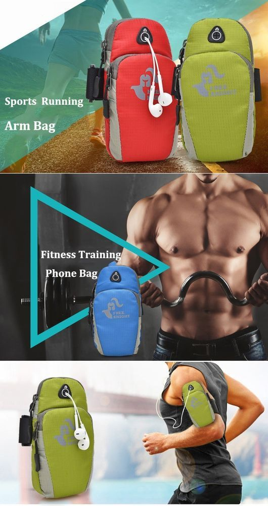 Sports Running Arm Phone Bag Pouch With Earphone Hole For iPhone Samsung phones #FreeKnight #ArmPhoneBagPouch