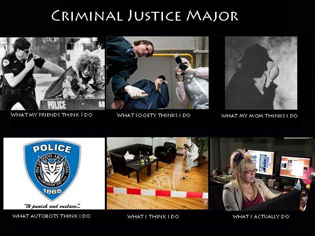criminal justice major meme  put together by me