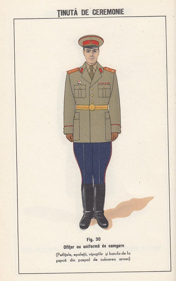 1958 Romanian People's Army officers' ceremonial dress uniform.