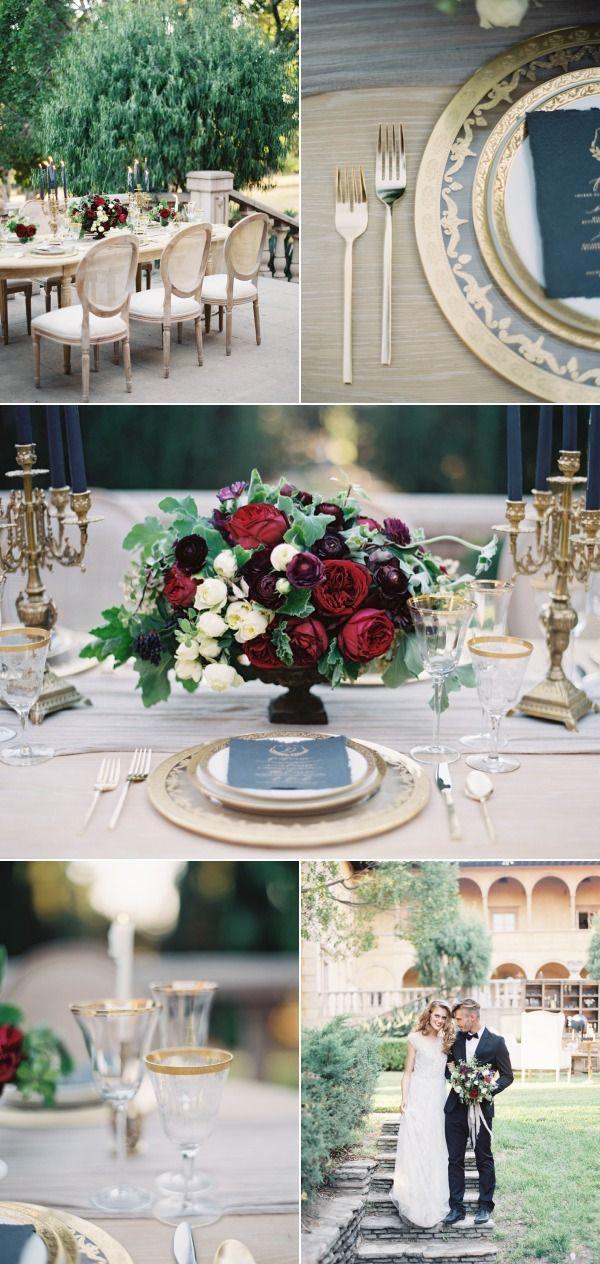 moody marsala wedding inspiration.