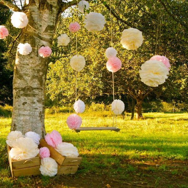 Hamaca. Qué mejor para destacar el espíritu romántico de una boda que un rincón con un elemento que se presta para la charla íntima y el sueño de volar.
