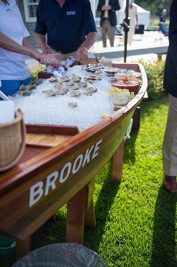 Nantucket weddings - boat cooler