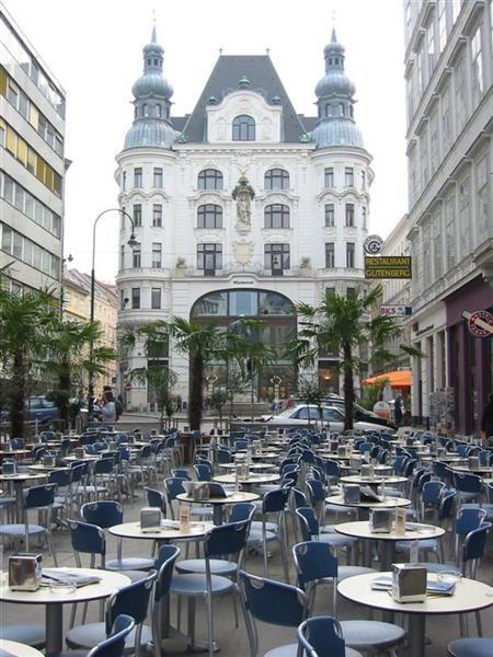 A street cafe in Vienna, Austria