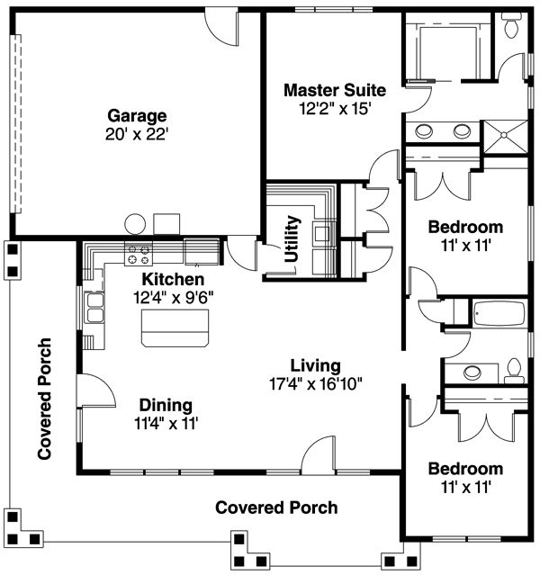 "plan 72128da: cost efficient spacious home | wraps, 1"" and design"