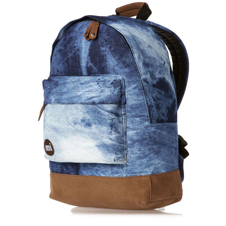 GREAT WASH.  Mi-Pac Backpacks - Mi-Pac Denim Dye Backpack - Blue