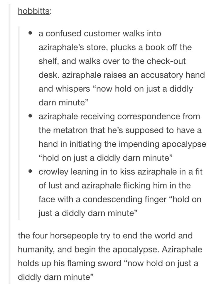 Aziraphale Good Omens apocalypse book store Metatron hold on just a diddly darn minute moment
