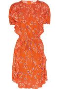 See by Chloé Printed ruffled crepe dress.
