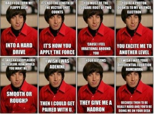 Howard's very best pick up lines :-)