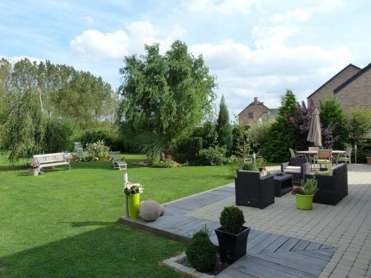 Idée terrasse brique et bois Comme à la campagne